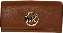 Comprar Michael Kors Fulton Carryall Luggage Brown Leather Wallet Flap Clutch