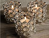 Jaz Deals Crystal Candle Holders for Decoration Set Of 4 pcs