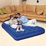 (Bestway) Comfort Quest Easy Inflate Flocked Air Bed Double