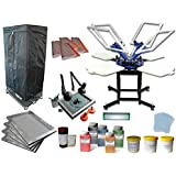 4 Color 4 Station Screen Printing Kit H