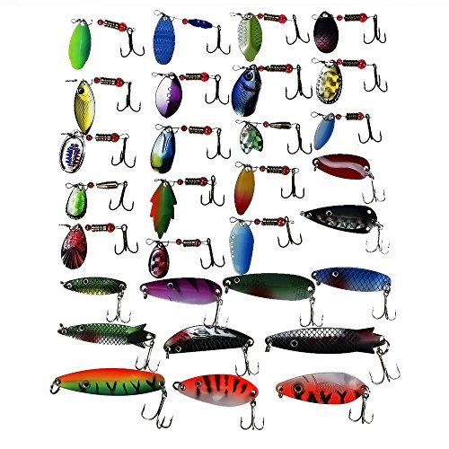 hotrose-30pcs-fishing-lures-spinner-baits-crankbait-assorted-fish-hooks-tackle