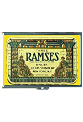 Ramses Vintage Condom Tin 1929 Double-Sided Cigarette Case, ID Holder, Wallet with RFID Theft Protection