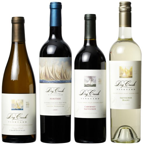 Dry Creek Vineyard Red And White Wines Mixed Pack (Library Edition), 4 X 750 Ml