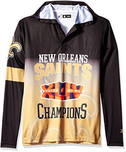 NFL New Orleans Saints Super Bowl XLIV Champions Hoody Tee, X-Large
