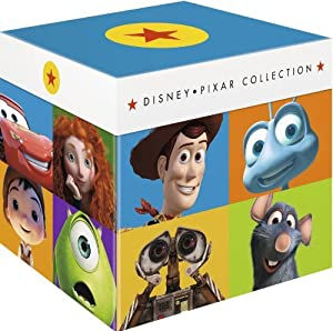 Disney Pixar Collection - 17-Disc Box Set ( Toy Story / A Bug's Life / Toy Story 2 / Monsters, Inc. / Finding Nemo / The Incredibles / Cars / Ratatouille / WALL*E / Up / Toy Story [ Origine UK, Sans Langue Francaise ] (Blu-Ray)