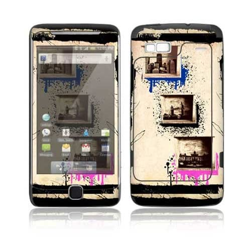 World Traveler Design Decorative Skin Cover Decal Sticker for HTC Desire Z Cell Phone