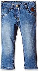 Little Kangaroos Baby Girls' Jeans (PL-1180_Light Blue_1 year)