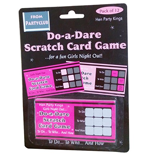 Do-a-dare Scratch Cards Bachelorette Party Games Pack of 1 Set