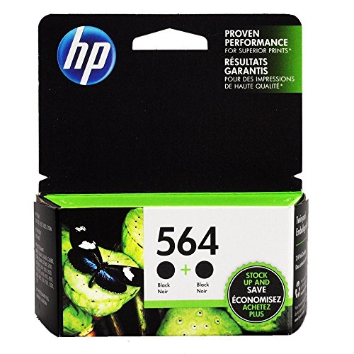 NEW Original HP 564 Black 2-PACK C2P51FN- Ink Cartridge SHIPS FAST - in Retail Box Packaging