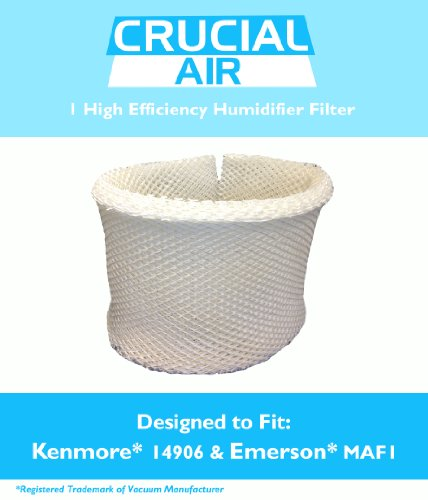 1 Kenmore & Emerson Humidifier Wick Filter; Fits Kenmore EF1 14906 & Emerson MAF1; Compare to Kenmore Part # 42-14906, 14906, EF1, MAF1; Designed & Engineered by Crucial Air