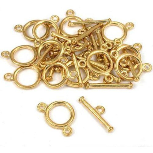 2 Strand Toggle Clasp Gold Plated New 11.5Mm Approx 15