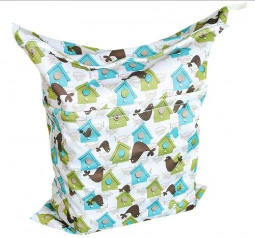 Baby Wet And Dry Cloth Diaper Bags, House Printed back-953882