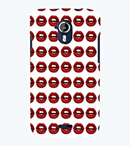 PRINTSWAG LIPS PATTERN Designer Back Cover Case for MICROMAX A117 CANVAS MAGNUS