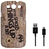 DMG Night Glow Hard Back Cover Case For Samsung Galaxy S3 Neo GT-I9300I (Bacardi) + Data Cable