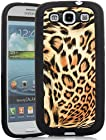 Galaxy S3 Case, iSee Case (TM) Leopard Print Faux Leather TPU Full Cover Protective Case SAMSUNG GALAXY S III 3 S3 GT-i9300(S3-TPU Leopard Gold+Stylus)