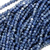 Blue Sodalite Tiny 2.5mm Round Beads / 16 Inch Strand (Lapis Color)