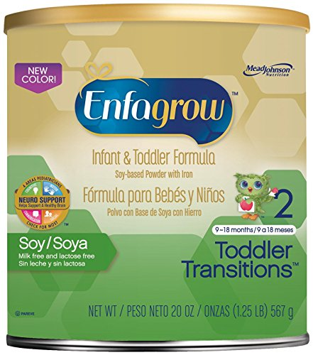 Enfagrow Soy Toddler Transitions, Soy-Based Powder with Iron, 20 Ounce Can