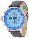 Invicta Mens 12077 I-Force Chronograph Ocean Blue Dial Grey Cloth Watch