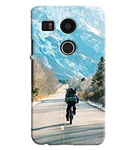 Blue Throat Men Riding On Mountains Hard Plastic Printed Back Cover/Case For LG Google Nexus 5x