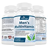 Natrogix 90 Day Supply Men's Multivitamin Supplements - Advanced Daily Ultra Vitamin & Minerals Support Immune-/Nervous System, Heart & Sexual Health(180 Capsules)