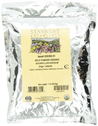 Starwest Botanicals Organic Kelp Powder, 1 Pound Bags