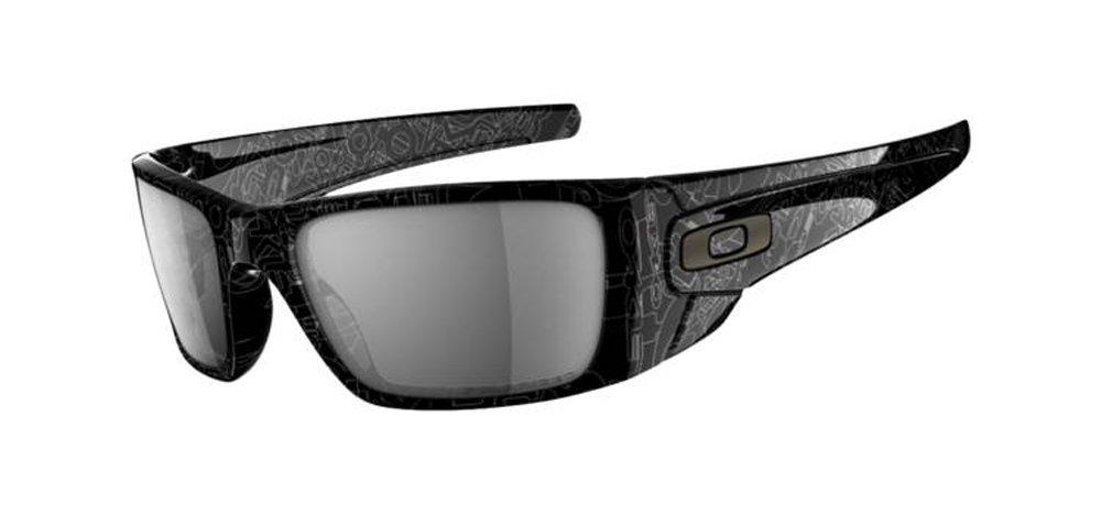 Oakley Sonnenbrille Fuel Cell, Plshdblk/Dkgryhisttxt/Blkirplr, One size, OO9096-07