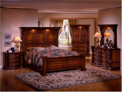 New Grand Traditional King Master Bedroom Set Furniture