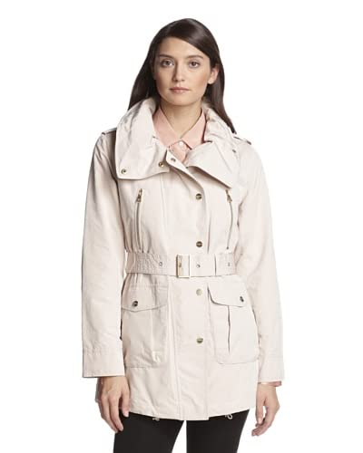London Fog Women's High-Neck Trench  [Powder]