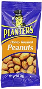 Planters Peanuts, Honey Roasted, 1-Ounce Bags (Pack of 144)