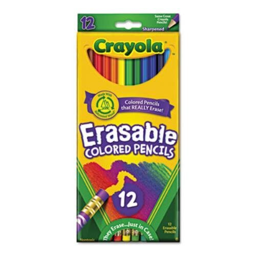 Crayola 12ct Erasable Colored Pencils