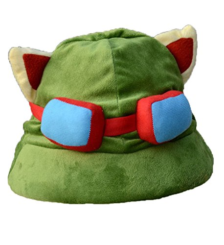 Togetherwe High Quality League of Legends LOL Teemo Hat Cosplay Army Green Color