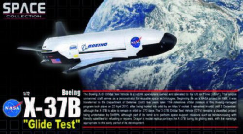 Dragon-50386-Sammlermodell-Space-X-37B-Orbital-Test-Vehicle-GlideTest-172-aus-Metall