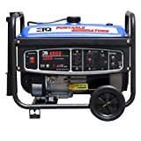 ETQ TG32P12CA 4,000 Watt 6.5 HP 210cc 4-Cycle OHV Gas Powered Portable&#8230;