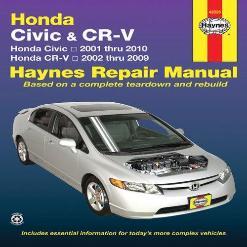 Download Honda Civic 2001-2010 & CRV 2002-2009 (Haynes Repair Manual)