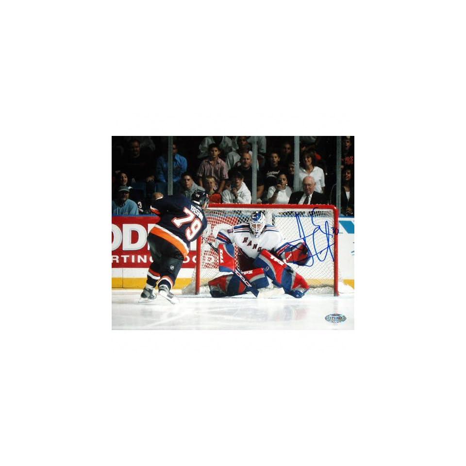 b3a14f3cae5 Henrik Lundqvist New York Rangers Save vs Yashin 16x20 Autographed  Photograph
