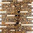 High Quality Mix Metal Glass Mosaic Wall Tiles-Kitchen/Bathroom--J12