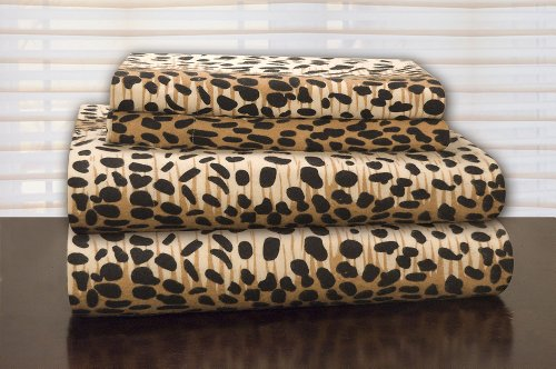 Cheetah Print Sheet Set Safari Bedding
