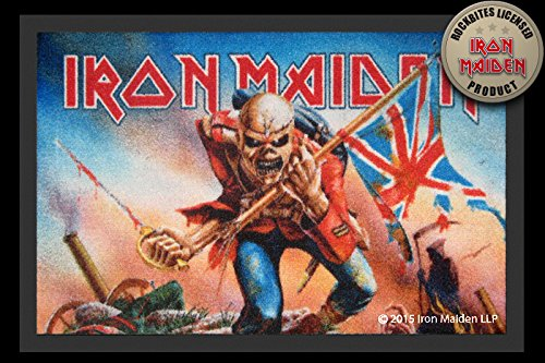 Iron Maiden The Trooper ZERBINO opaca kuheiga sporco, tergivetri base porta ZERBINO TAPPETO ZERBINO