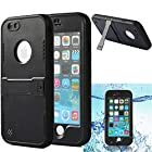 iPhone 6 Case, iPhone 6 waterproof case, oneCas™ Armor Defender IP-68 waterproof Shockproof Dirt Proof Snow Proof Heavy Duty Full Body Skin Case Protective Cover with Hand Strap & Headphone Adapter for Apple iPhone 6 4.7 inch Screen, Black