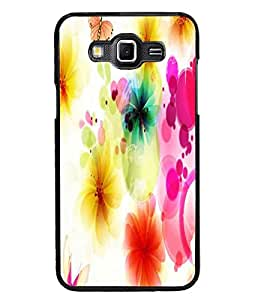 PrintDhaba Floral Pattern D-1107 Back Case Cover for SAMSUNG GALAXY GRAND MAX (Multi-Coloured)