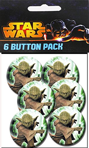 "C&D Visionary Star Wars Yoda - Fighting 1.25"" Button (6-Piece)"