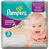 Pampers Active Fit Size 3 (Midi) Monthly Pack - 204 Nappies