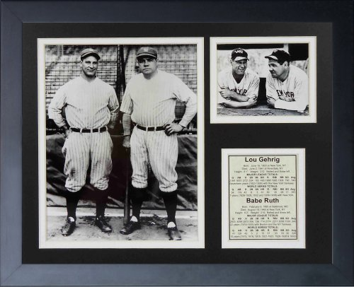"New York Yankees 11"" x 14"" Framed Photo Collage by Legends Never Die, Inc. - Lou Gehrig & Babe Ruth - Bats at Amazon.com"