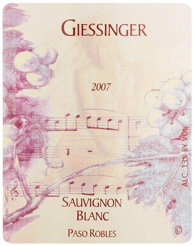 2007 Giessinger Sauvignon Blanc Reserve, Paso Robles 750 Ml