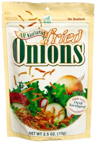 Agron All Natural Fried Onions, 2.5-Ounce Resealable Pouches (Pack of 12)