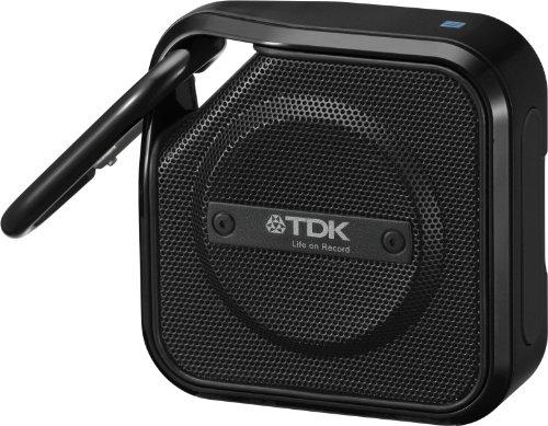 TDK Life on Record  Bluetoothワイヤレスポータブルスピーカー アウトドアに強い防塵・防滴(IP64相当) iPhone対応 ?NFC対応? TREK Microシリーズ ブラック A12BK