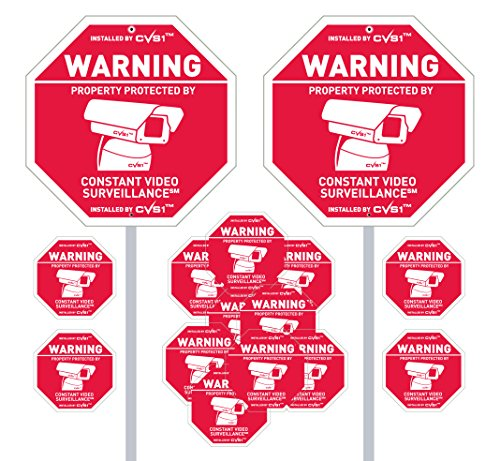 2-security-camera-yard-signs-with-12-stickers