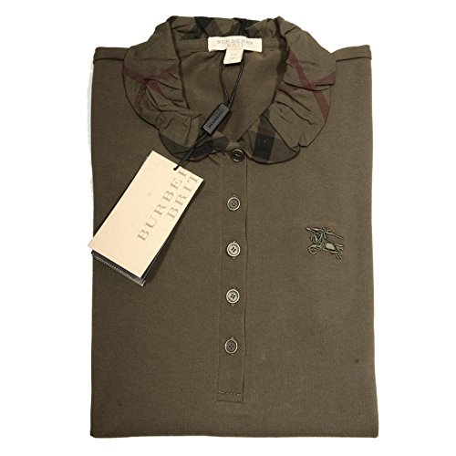 66840 polo BURBERRY BRIT BULRUSH GREY maglia donna t-shirt women [XS]