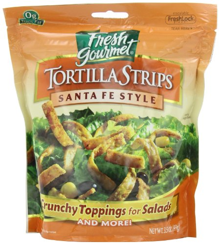Fresh garden tortilla strips