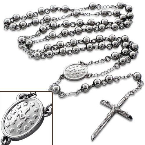 Rosary Bead Necklace - Appx Length: 28